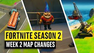 Fortnite | All Season 2 Map Updates and Hidden Secrets! WEEK 2 (chapter 2)