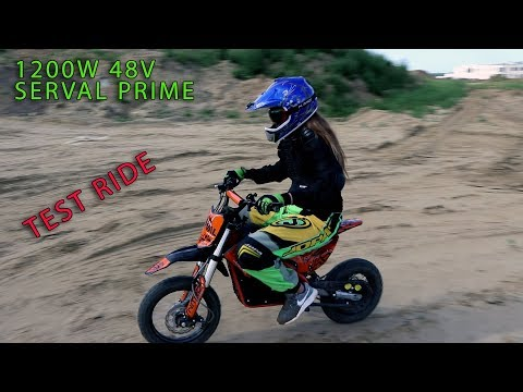 SERVAL PRIME 1200W 48V Electric Dirt Bike - FIRST RIDE