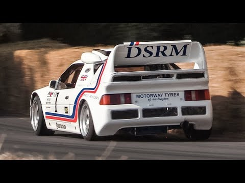Ford RS200 Evolution Gr. B Rallycross Monster driven flatout at Goodwood FoS!