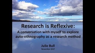 Research is Reflexive: Creating a Digital Story