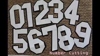 Number Cutting tutorial with 5 x 3 Grid