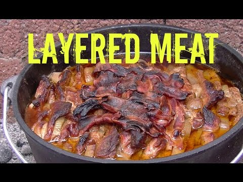 """Layered Meat"" made in the Dutch Oven – German Schichtfleisch Recipe"