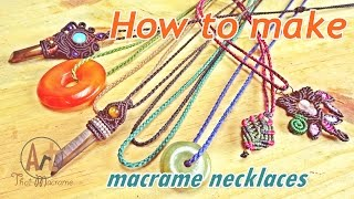 Tutorial How To Make Basic A Macrame Knot Necklace Waxed Cord