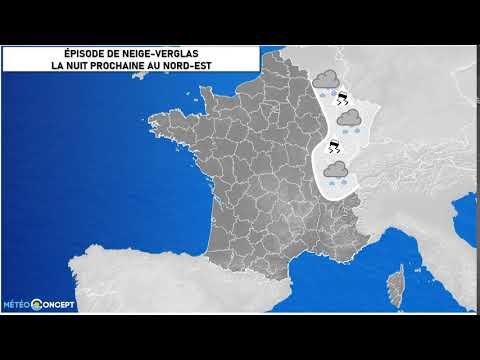Illustration de l'actualité Épisode de neige-verglas du nord-est au Centre-Est la nuit prochaine