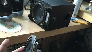 Upgrade du woofer sur un Logitech LS21
