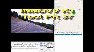 INNOVV K1 Test PR37 - Near Medina Lake - With tracking map