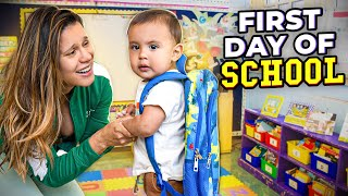 Baby Milan's FIRST DAY of SCHOOL! (ONLY 10 MONTHS OLD) | The Royalty Family