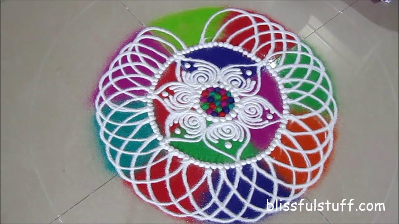 latest sanskar bharti rangoli design for diwali by poonam borkar