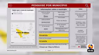 Patos Já - Estado mantém Patos de Minas na Onda Amarela do Minas Consciente.