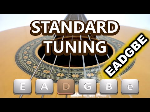 How to tune a standard 6 string guitar