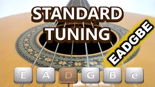 Tuning a guitar: Standard tuning for 6 string guitar