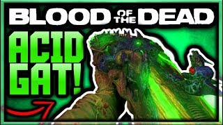 Blood of the Dead Acid Gat Kit All Parts Upgrade Tutorial! (BO4 Zombies Upgraded Blundergat Guide)