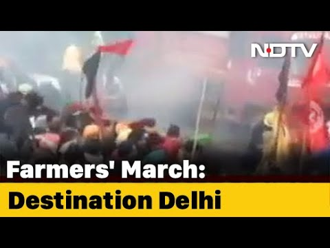 Farmers Protest: Massive Jams At Delhi-Gurgaon Border Amid Farmers' March Chaos In Haryana