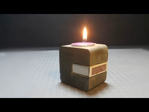 Diy Candle Holder How To Make Easy Concrete Candle Holder Easy Craft