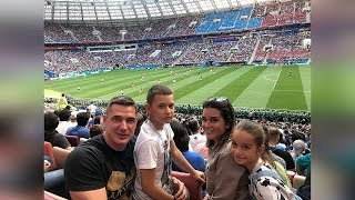 Бородина с семьей на футболе болеют за Францию