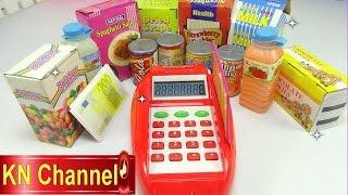 Đồ chơi trẻ em Bé Na review Máy tính tiền siêu thị Supermarket Cash Register Kids toys