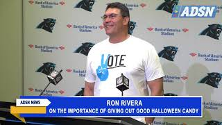 Ron Rivera discusses the importance of giving out good Halloween candy