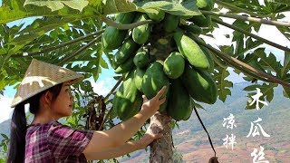 When papaya is ripe, it is fruit. When it is raw, you can cook. Have you ever eaten cold papaya?
