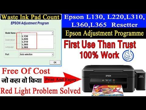 Epson L220 Red Light Blinking Problem Solution
