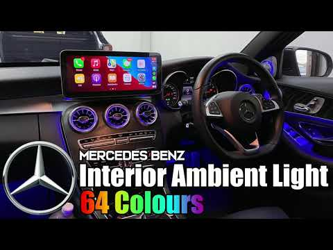 【ML】Mercedes 64 Colours Ambient Light Upgrade