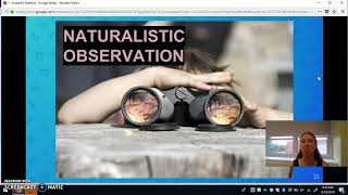Research Methods: Naturalistic Observation