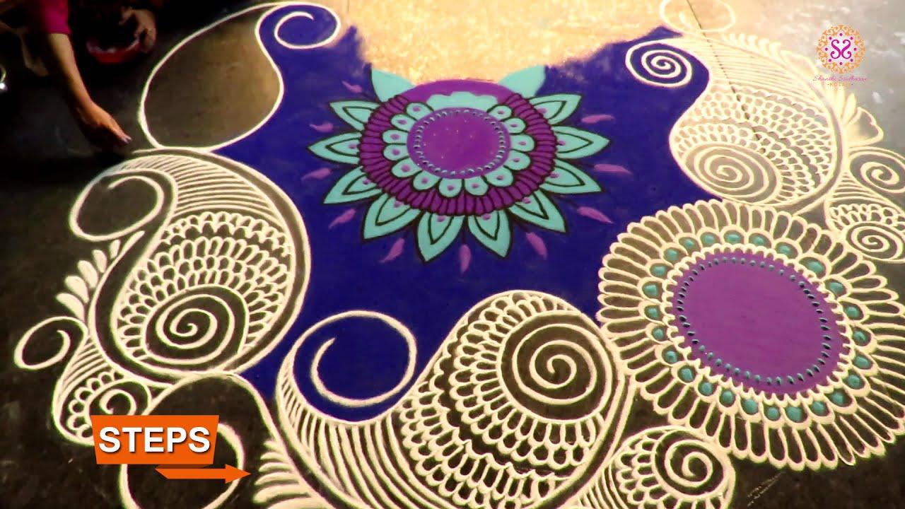 rangoli design mandala by shanthi sridharan