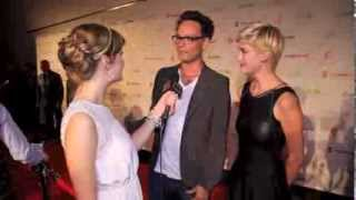 Lauren Lee Smith & Ben Cotton - Katie chats at 2013 TIFF Producers Ball (Cinemanovels)