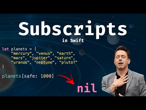 Subscripts in Swift: The shortcut to your data! thumbnail