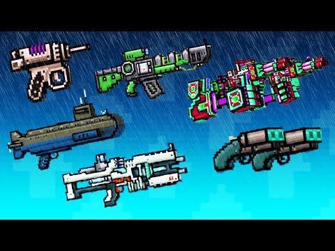 Pixel Gun 3D - 45 LVL Weapons Gameplay in Pool / Siege