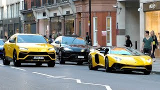 LAMBORGHINI SQUAD TAKING OVER the streets of central London!