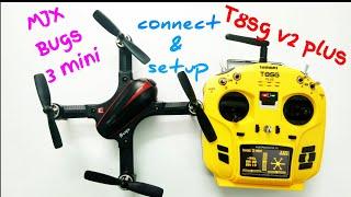 MJX bugs 3 mini VS T8SG v2 plus hướng dẫn kết nối và cài đặt setup
