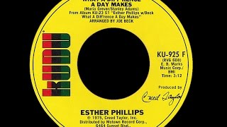 Esther Phillips ~ What A Diff'rence A Day Makes 1975 Disco Purrfection Version
