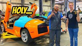 Cutting Holes In My Lamborghini Murcielago To Fix It??? But Then We Broke It Again!