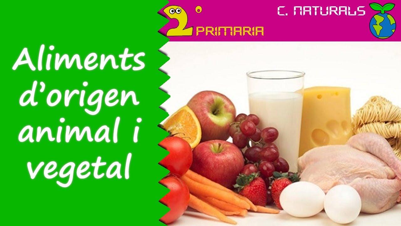 Ciències de la Naturalesa. 2n Primària. Tema 3. Aliments d'origen animal i vegetal