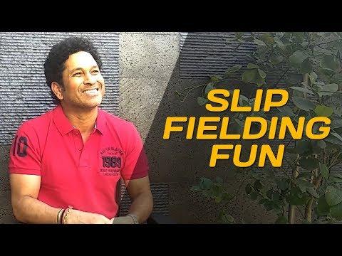 Fielding in the slips with Viru & Rahul