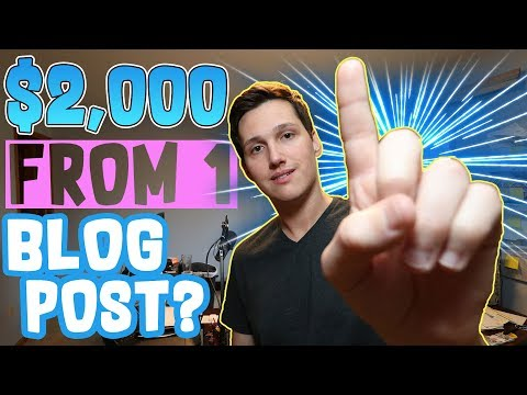 How To Make $2,000 With Amazon Affiliate Marketing