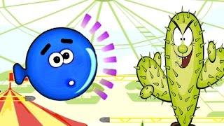 Игра про Синий шарик воздушный #2. Мультик игра для детей Balloony