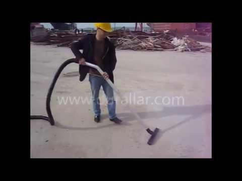 Sanayi Tip Vakum Makinası-15 mt uzun hortum ile tersane yer süpürme