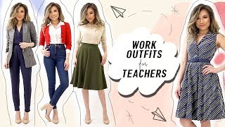 WORK OUTFITS For Teachers & Creatives | Cute Business Casual Outfit Ideas Modcloth | Miss Louie