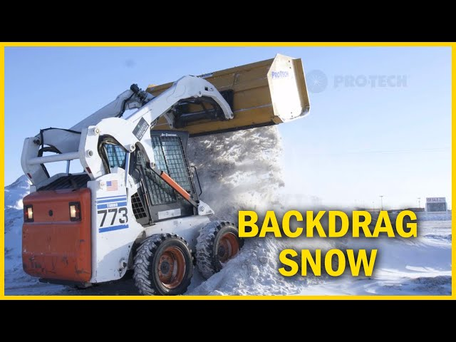 Backdrag And Pull Back Snow From Tight Spaces - Pro-Tech Sno Pusher