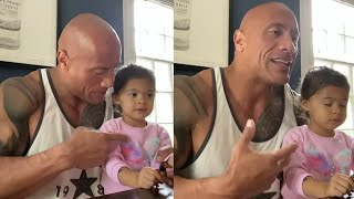 The Rock Awesome Rap With His Daughter Tia | Dwayne Johnson