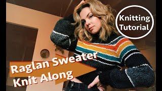 KNIT ALONG: Guide To Making Raglan Knit Pullover [ski Lodge Sweater Pattern]