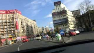 preview picture of video 'Fahren durch Bukarest Mitte - Driving through Bucharest center'