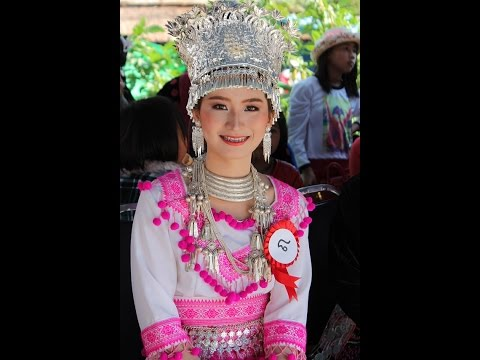 HMONGWORLD: MISS DOK SEAW BAN BEAUTY PAGEANT, QUESTION ROUND. Phu Chi Fa, Chiangrai, Thailand