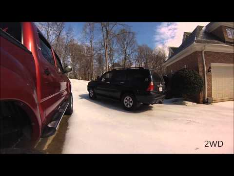 4WD vs 2WD in the snow with Toyota 4Runner