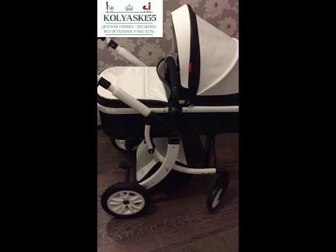Детская коляска трансформер Aimile 2 в 1 экокожа