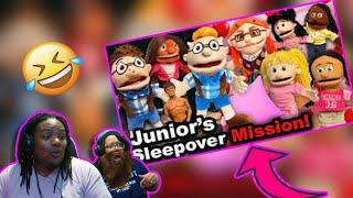 SML movie: Junior's Sleepover Mission!| Reaction!!!!