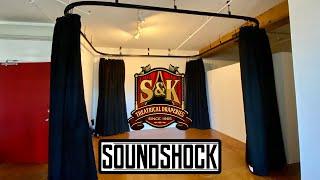 S&K - Home Studio Curtains (360 degrees SoundShock Installation & Testimonial) Sound Dampening.