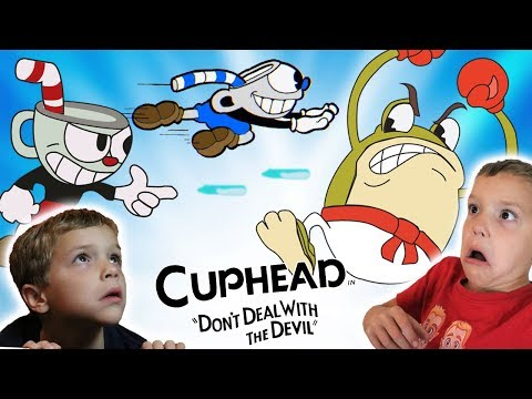 Ali the Fighting Frog! CUPHEAD & MUGMAN Part 2 Twin Toys Kids Jumpscare