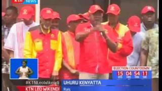 Kampeni za jubilee : Uhuru Kenyatta awaomba kura wakaazi wa Garissa